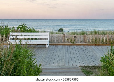 Atlantic Sunset at Rehoboth Beach In Delaware