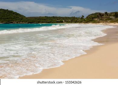Atlantic Waves Crashing on Beach at Half Moon Bay Antigua
