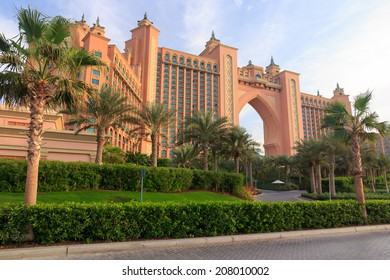 Atlantis Hotel in Dubai It is hotel Atlantis on the palm Jumeirah in Dubai, United Arab Emirates. I made this photo in 6 january 2011 year.