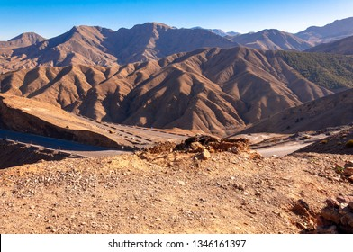 the Atlas mountains in Morocco.