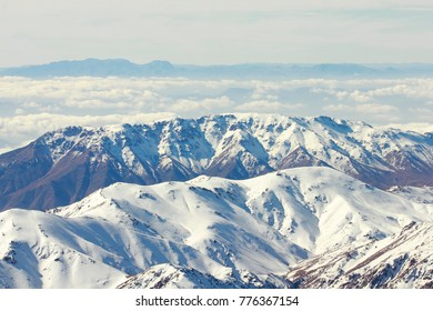 atlas mountains in morocco during winter