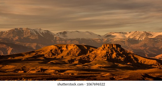 The Atlas Mountains are a mountain range in the Maghreb. It stretches around 2,500 km through Algeria, Morocco and Tunisia. The range's highest peak is Jebel Toubkal.