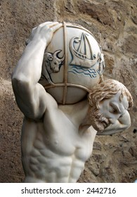 Atlas Statue at Paphos town in Cyprus