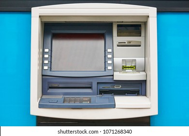 ATM machine detail. Cashpoint. Financial and banking operation. Horizontal