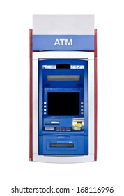 Atm Machine Isolated on White.