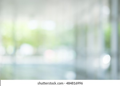 atmosphere around office blur background with bokeh