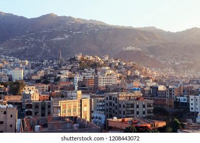 The atmosphere of the city of Taiz -Yemen