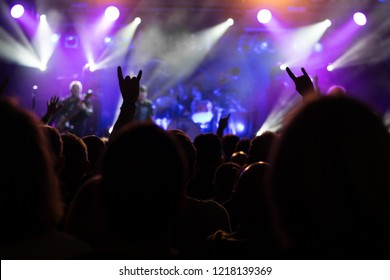 atmosphere at the concert