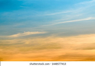 Atmosphere during its transform golden to twilight sky background