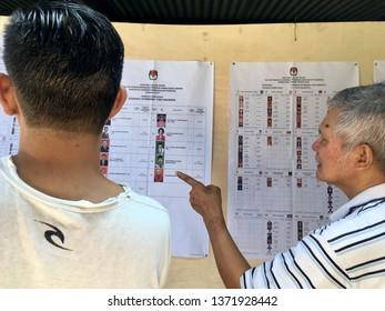 Atmosphere of General Election 2019 TPS 99 Pringgolayan Banguntapan Bantul DI. Yogyakarta. April, 17, 2019