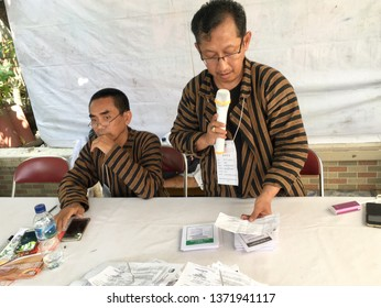 Atmosphere of Indonesian General Election 2019 TPS 99 Pringgolayan Banguntapan Bantul DI. Yogykarta Aprill 17 2019.