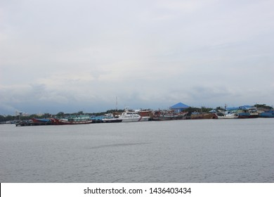 the atmosphere at the probolinggo port of Mayangan