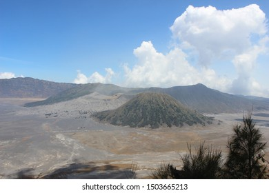 the atmosphere at Seruni Point Area in Bromo Tengger Semeru National Park, East Java, Indonesia