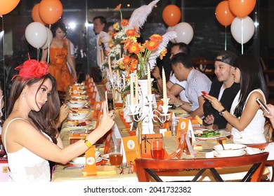 The atmosphere of a socialite's birthday party at a five-star hotel. Jakarta, October 14, 2015
