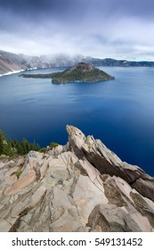 Atmospheric late afternoon at Crater lake National Park