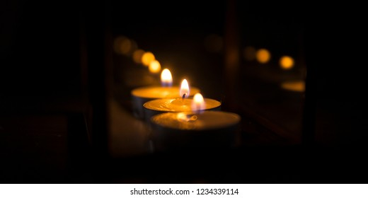 atmospheric light of candles peace full moment