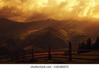 Atmospheric mountains. Ukraine. Carpathians