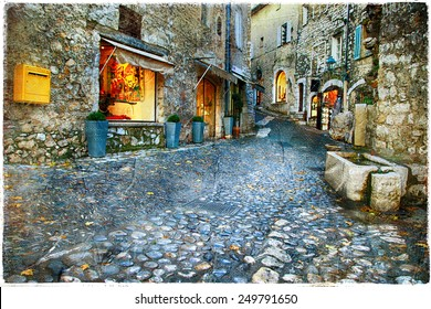 atmospheric old villages - Paul De Vence, France