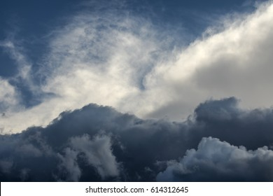 Atmospheric sky with clouds