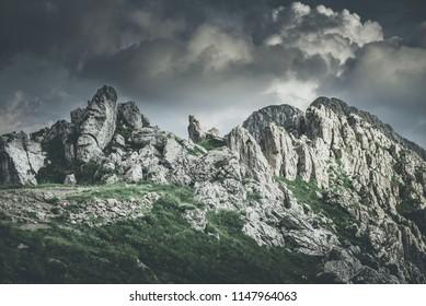 atmospheric turbulence in beautiful  mountain landscape