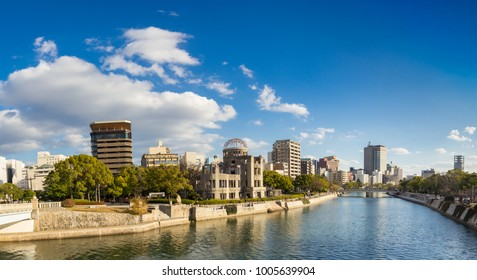 The atomic bomb (A-bomb) dome of Hiroshima, a UNESCO world heritage site.