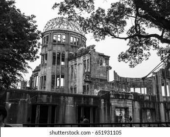 Atomic bomb dome, Hiroshima Japan