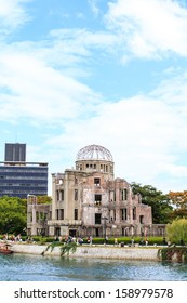 The atomic bomb dome is the nuclear memorial at Hiroshima, Japan
