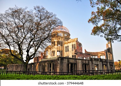 The Atomic Dome, ex Hiroshima Industrial Promotion Hall, destroyed by the first Atomic bomb in war, in Hiroshima, Japan.