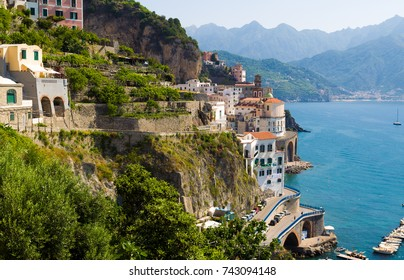 Atrani Village on the Amalfi Coast, Italy, Europe