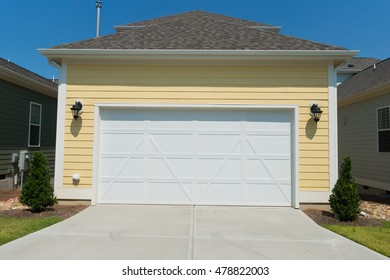 Attached residential house garage