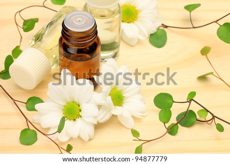 Attached White Flower Wireplants Aroma Oil Stock Photo Edit Now