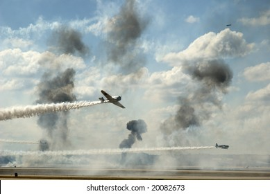 The attack of Pearl Harbor reenactment at the Airfest 2008