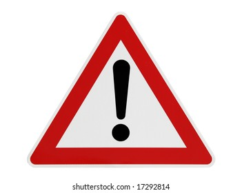 Attention Road Sign