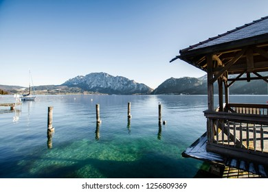Attersee in Austria during christmas time, peaceful, covered with snow and extremely beautiful.