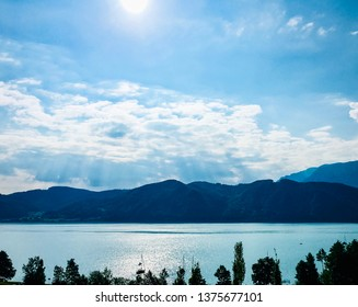 Attersee in Austria in the morning