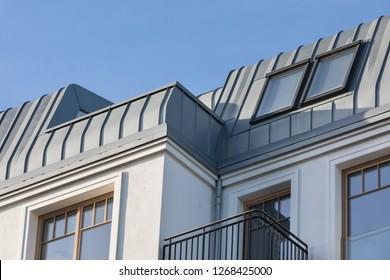 attic balcony with metal cladding