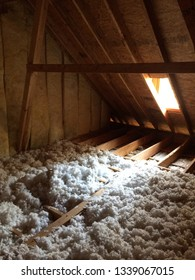 Attic Corner with Dormer and Insulation
