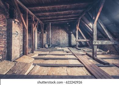 attic floor - attic loft / roof construction