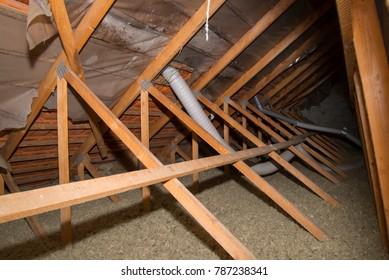 Attic insulation lost