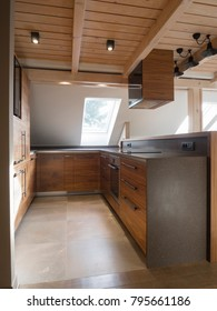 Attic kitchen interior