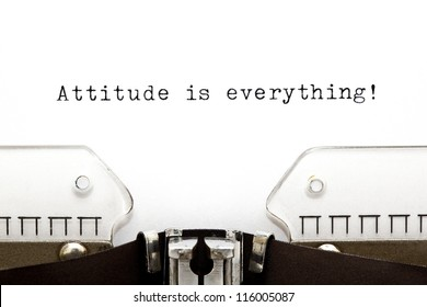 Attitude is Everything printed on an old typewriter