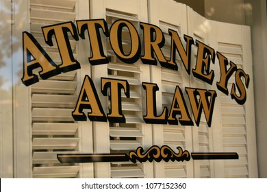 Attorneys at Law Sign