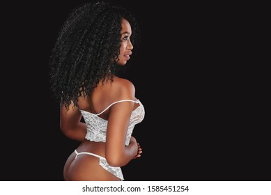 Attractive African female girl with perfect body