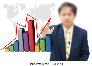 An attractive artwork of business idea with asian model.