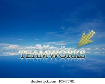 Attractive artwork of business wording on clear sky background.