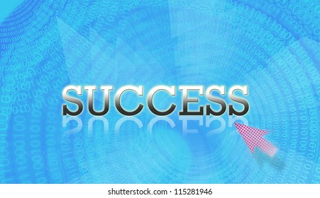 Attractive artwork of business wording on blue modern background.