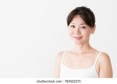 attractive asian woman beauty image isolated on white background