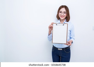 attractive asian woman posing isolated on white background