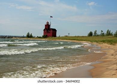 Holland Michigan Lighthouse Images Stock Photos Vectors