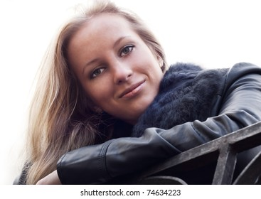 Attractive blonde girl